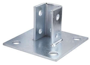 FNW Center Plated 4-Hole Square Single Channel Post Base FNW7853Z