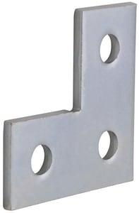 FNW 3-1/2 Plated 3-Hole Corner Plate FNW7838Z3