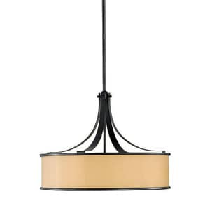 Murray Feiss Industries Casual Luxury 100 W 4-Light Medium Chandelier in Dark Bronze MF23434DBZ