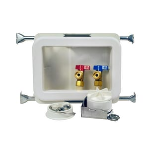 Oatey 5-1/2 x 8-1/3 in. Quarter-Turn CPVC Fire-Rated Washing Machine Outlet Box O38471