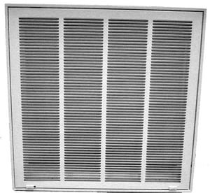 PROSELECT® 20 in. Flexible Graphite Return Filter Grill with 1/3 in. Fin in White PSFG3W20