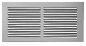 PROSELECT® 12 in. RG7 Baseboard Return Grille with 1/3 in. White Fin PSRG783W12