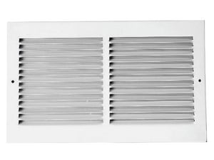 Proselect 16 in. Roll Groove Return Air Grille with 1/2 in. White Fin PSRGW16