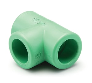 Aquatherm Female x Socket Weld x Female SDR 11 Polypropylene Tee in Green A01131
