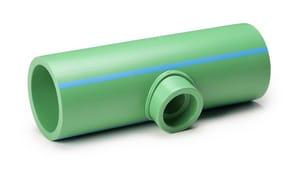 Aquatherm SDR 11 Socket Weld Polypropylene Tee in Green A01136