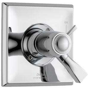 Delta Faucet Dryden™ Thermostatic Mixing Valve Trim Package with Double Lever Handle and Integrated Volume Control DT17T051