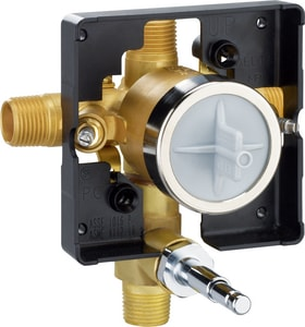 Delta Faucet Pfirst™ 1/2 in. Valve Body Only with Push Button Diverter Forged Brass DR10300UNWS