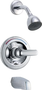 Delta Faucet 2 gpm Tub and Shower Trim with Push-Button Diverter and Double Lever Handle (Trim Only) DT13691