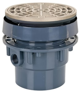 Sioux Chief Finish Line™ Adjustable Floor Drain SCH40 Hub Connection 5- 1/2 in. Top Complete Assembly S832PNR