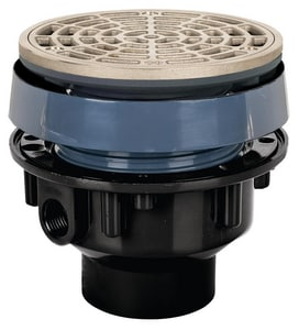 Sioux Chief Finish Line™ ABS Drain Floor with 5 in. Ring & Strainer Nickel Bronze S83225ANR