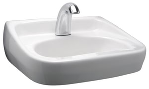 Zurn Industries 1-Hole Wall Mount Lavatory Sink with Center Drain ZZ5341