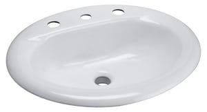 Zurn Industries 4 in. 3-Hole Wall Mount Lavatory Sink ZZ5814