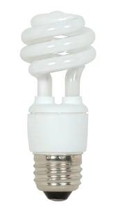 Satco 4100k Mini Spiral Compact Fluorescent Medium Base Bulb SS7212