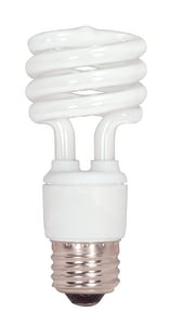Satco 4.37 in. 15 W Mini Spiral Compact Fluorescent Medium Base Bulb SS7223