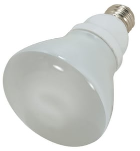 Satco 15W R30 Compact Fluorescent Light Bulb with Medium Base SS7249