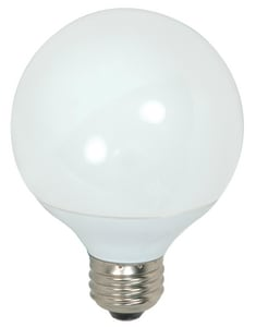 Satco 9W G25 Compact Fluorescent Light Bulb with Medium Base SS7302