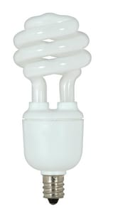 Satco 1-14/25 in. Candelabra Base Mini Spiral Compact Fluorescent Light Bulb SS7363