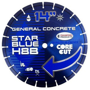 Diamond Products Core Cut™ Star Blue 1/8 in. 20 mm. Concrete Asphalt Blade D85261