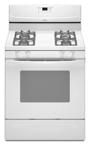Whirlpool 29-7/8 in. 5 cf 4-Burner Self-Cleaning Freestanding Gas Range WWFG361LV