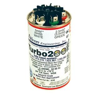 Motors & Armatures Turbo® 200 2.5/5/5/10/20/25 Round Run Cap Turbo MAR12200