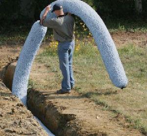 ezflow 10 ft underdrain plastic drainage pipe ez1401 p. Black Bedroom Furniture Sets. Home Design Ideas