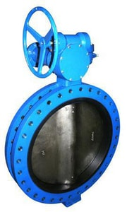 FNW 150 psi Ductile Iron Ductile Iron EPDM U-Body Butterfly Valve Gear Operator FNW752EDSG