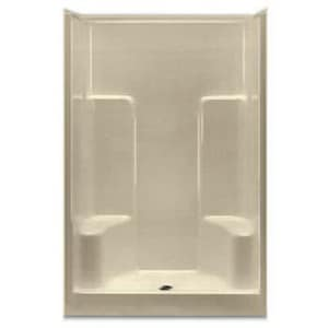 Aquarius Industries Luxury 48 x 36-2/25 in. Gelcoat Shower with 2-Seat and Tub Guard AG4895SHCP3