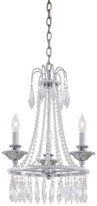 Minka Victoria 60 W 3-Light Mini Chandelier Chrome/Glass Finish in Polished Chrome M313277
