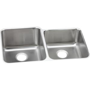 Elkay Gourmet® 2-Bowl Undercounter Stainless Steel Kitchen Sink EELUHAD312055R