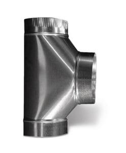 Lukjan Metal Products 3 x 3 x 3 in. 26 ga Full Flow Tee SHMT26MMM