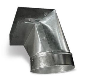 Lukjan Metal Products 30 ga 90° Elbow Register Boot with Flange SHMRB9F12P