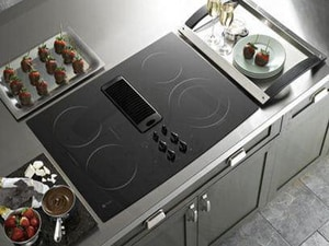 General Electric Appliances Profile™ 30 in. Downdraft Electric Cooktop GPP989DNBB