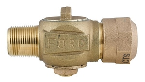 Ford Meter Box 3/4 in. MIP x CTS Quick Joint Compression Stop Valve FF11003QNL