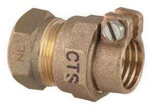 Ford Meter Box FIP x CTS Brass Straight Coupling FC14NL