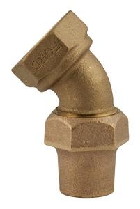 Ford Meter Box Female Copper Threaded x Flared 45 Degree Bend FLA02NL