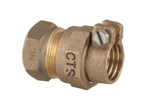 Ford Meter Box FIP x CTS Compression Brass Coupling FC1434NL