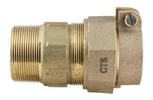 Ford Meter Box MIP Swivel x CTS Pack Joint Brass Coupling FC84NL