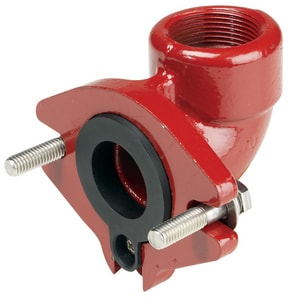 Liberty Pumps 1-1/4 in. Grinder Flanged Elbow LG90