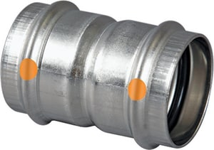 Viega Press 304L Stainless Steel Coupling with Stop V8526
