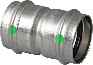 Viega ProPress® Press x Press 316L Stainless Steel Coupling with Stop V802