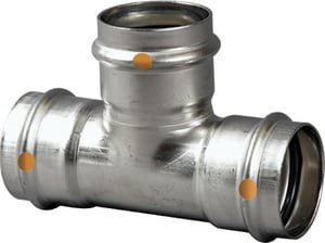 Viega Press 304L Stainless Steel Reducing Tee V856