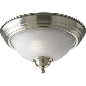 Progress Lighting 13-3/8 in. 2-Light Close-to-Ceiling Fixture with Etched Glass Shade PP3457