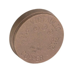 Style 660 Grooved Copper Cap VF660C0C