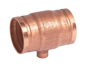 Victaulic Style 626 Grooved x Grooved Copper Reducing Tee VFC1626C00