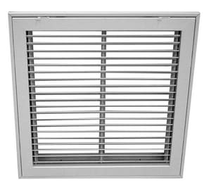 Proselect 30 x 10 in. Fixed Bar Filter Grille White PSFBFGW3010