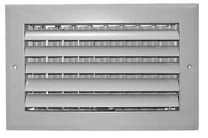 Proselect 14 in. 1-Way Aluminum Curved Ceiling or Sidewall Register in White PSA1CW14
