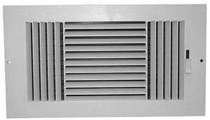 PROSELECT® 14 in. Plastic Ceiling/Sidewall Register in White PSP3WW14