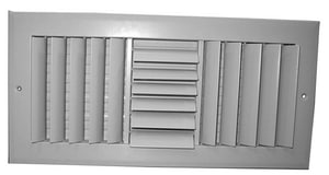 Proselect 12 in. Aluminum Ceiling/Sidewall Register in White PSA3CW12