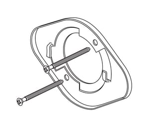 Delta Faucet Bracket and Screw DRP51035