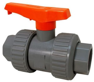 Chemtrol 250 PSI Full Port PVC True Union Ball Valve EPDM CU45TBE